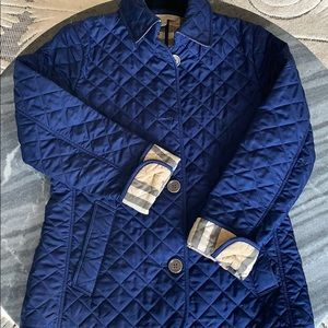 Used Buberry Quilted Jacket in cobalt blue